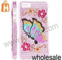 Butterfly Pattern Glittering Rhinestone Full Studded Back Hard Diamond Case for iPhone 5 Multi Patterns