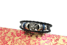 SP Handmade leather bracelets bead leather wristbands