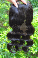 Express protein gold hair, 100% remy hair wave, three part lace closure