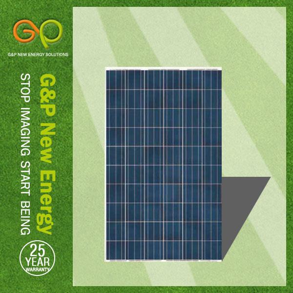 G&p polysilizium 250w solarpanel mit der hohen Qualität solarzelle, 9 Jahren als solarpanel hersteller