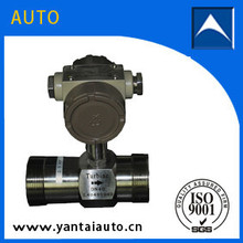 External and internal screw connections turbine flow meter measure liquid
