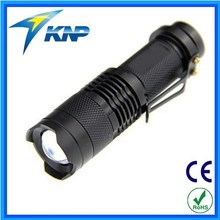 Aluminum Alloy 3W 200 Lumens Focus Zoom LED Flashlight