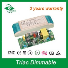 class II triac dimmable led driver 800mA EMC LVD ROHS approved led power supply with 3 years warranty