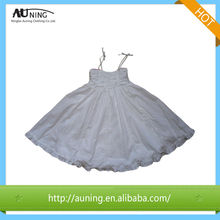 Hot Sale Colorful Pink White Stripe Girls Dress