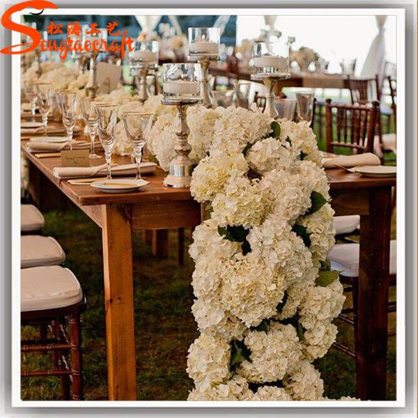60cm of artificial silk fabric rose flower balls for wedding table romantic rose flower kissing ball artificial flower ball for wedding decoration junglespirit Gallery