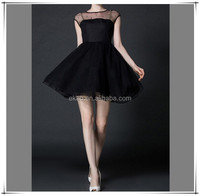 Summer Women Dress 2015 Solid Black Sexy Lace Vestidos Ladies Casual Short Sleeve Mini Party Dresses from OEM supplier Guangzhou