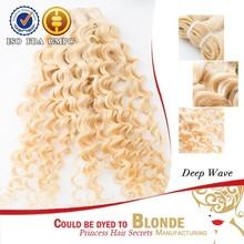 CALIFORNIA popular human hair wholesale high quality grade 7a raw unprocessed blonde 100% human brazilian virgin hair