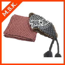 2015 hot cheap price girl winter hat and scarf set from china