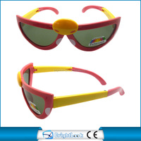 Funny cartoon frame kids sunglasses foldable temple vogue design good price 2015