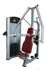 Seated Chest Press Fitness Equipment With Steel Weight Stack Weight Plate Stacks