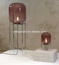 Lámpara de pie de cristal decorativa, Lámpara Oda de piso, Única lámpara de cristal de piso