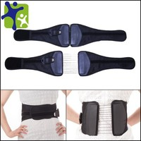 Lumbar traction belt, spinal support belt with fastening belt
