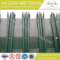 Palisade fencing for sale Galvanized /powder coated Palisade Fence/palisade fence system