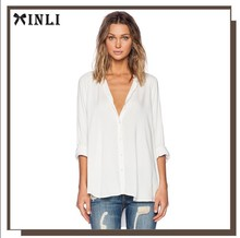 Front Button Closure High Street Blouse Tops