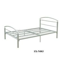 Venta caliente de metal muebles cama cama doble diseña