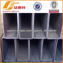 rectángulo de tubos de acero