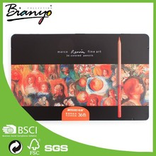 Marco Colorful Drawing Pencil 24 Watercolor Pencils In Tin Box