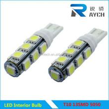 Popular LED Car Side Light T10 13SMD 5050 LED T10 T10 13SMD 5050 auto led dashboard light
