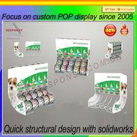 Can dispenser metal or cat food display rack stand