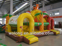 cute squirrel Inflatable Slide For kids