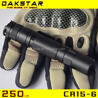 DAKSTAR CR15-6 CR123 or 16340 battery Military LED Mini Flashlight with pocket clip