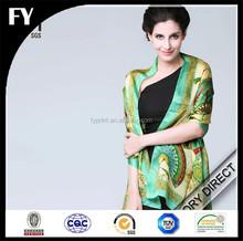 Factory Custom Digital Print Silk Pashmina Scarf In China