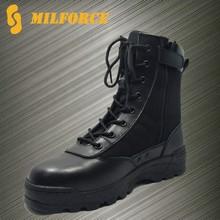 2015การออกแบบใหม่ราคาถูกรองเท้ารองเท้าตำรวจยุทธวิธีการต่อสู้สีดำ