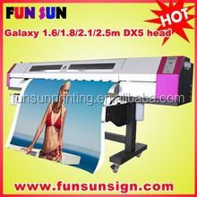 Galaxy 1.6m/1.8m/2.1m/2.5m/3.2m dx5 printhead indoor & outdoor eco solvent printer ( 1440dpi,Big discount price now )
