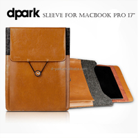 Genuine leather Case Cover for Macbook Pro 17 Inch laptop bags cases and sleeves manufacturer