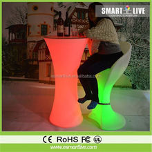 rechargeable RGB remote control PE material led fruit tray bowl, decorative party tray