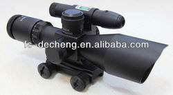 2.5-10x40 E Mil dot red or green illuminated hunting firfle scope with green laser sight