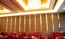 Hotel soundproof folding partition system design decorative partition wall