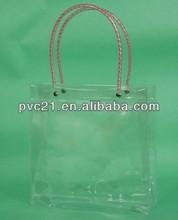 Clear plstic handle bag Candy die cut handle plastic bags, popular plastic handle bags, plastic bags with die cut handle