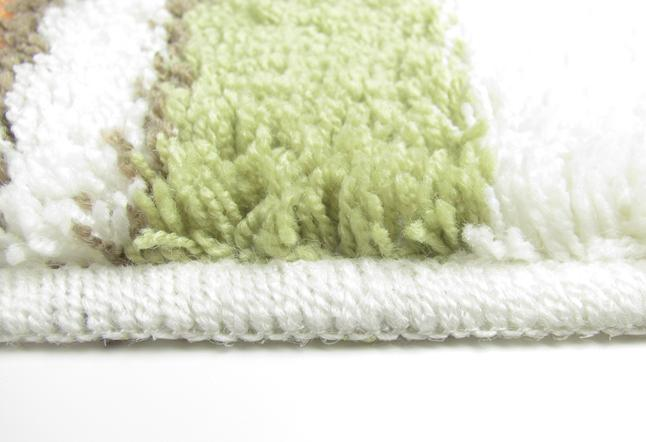 Bath Mat Sets White : White jacquard totel use bath mat set pieces