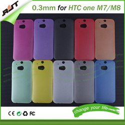 Ultra thin colored tpu case 0.3mm sublimation phone case for htc one M7 M8