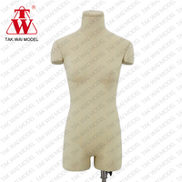 Fashionable flexible shoulder cups woman dress from display dressmaker mannequin