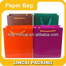 Brown Kraft Paper Bag With Handles Shopping Packaging