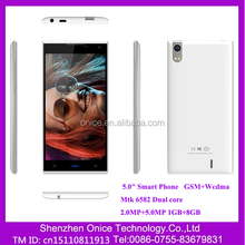 Mobile phone distributors K59 1280*720 mobile phone price malaysia 5.0 inch MTK6582 Dual core GSM+WCDMA mobile phone no name