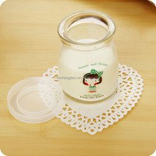 wholesale small 100ml round glass yoghourt bottle with plastic lid alibaba china