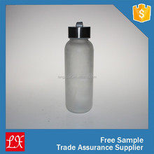 new products middle frosted glass bottle factory