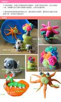 12colors Пластилиновые игрушки дом моделирования глупых шпатлевка детей день рождения настоящей охраны окружающей среды токсичными свободный корабль