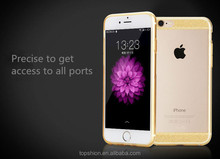 Ultra slim back casing cover for iphone 6 plus, bling bling case