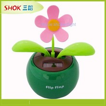 2015 high quality Manufacturers selling solar apple blossoms solar automatic swing sunflower