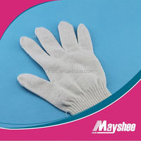 best quality personal protective bleached white cotton knitted working safety gloves for household work