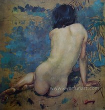 hand-painted beautiful indian nude women painting