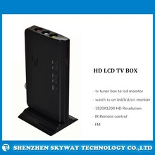 Smart HD TV Box with IR Remote , HD LCD TV tuner Box for LCD/LED/CRT moniter
