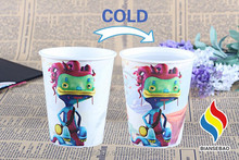 7.5oz 15oz 20oz 32oz Full Color Printed Reusable Hard Plastic Beer Color Changing Plastic Cup