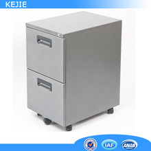 Bedroom furniture iron 2 drawer cabinet with wheels green mobile pedestal filing cabinet knock down pedestal closet