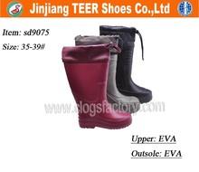 2015 new women plastic rain boots garden boots clogs
