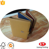 High quality magnetic button closure PU Diary with PU pocket for card insert